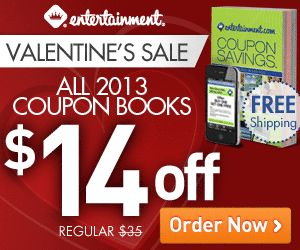 All 2013 Entertainment Books $14 Off + FREE Shipping!!