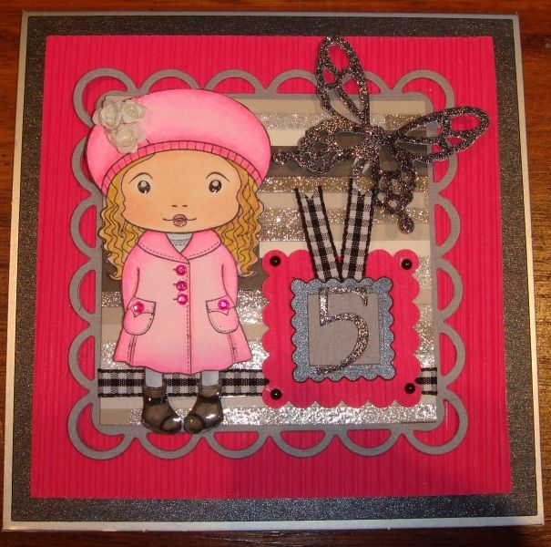 5 year old Girls Birthday Card by charlie horse - Cards and Paper Crafts at Splitcoaststampers