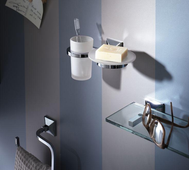 Accessori bagno moderni e ricercati, portaspazzolino, portasapone