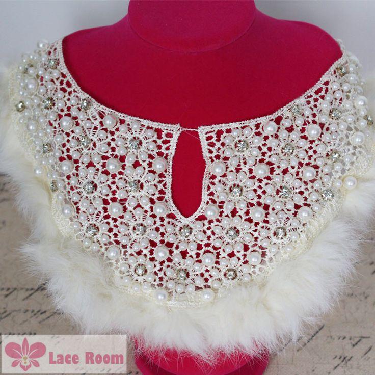 Upscale kleding kant kraag vrouwelijke modellen nep kraag bloem stickers boorden accessoires applique flarden kleding decoratie