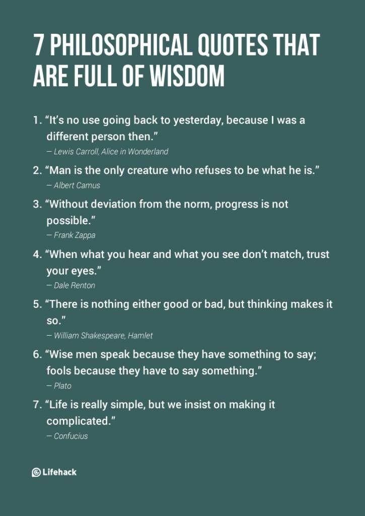 Full of wisdom