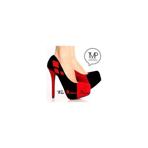 Harley Quinn Tights ❤ liked on Polyvore featuring intimates, hosiery, tights, red pantyhose, red stockings and red tights