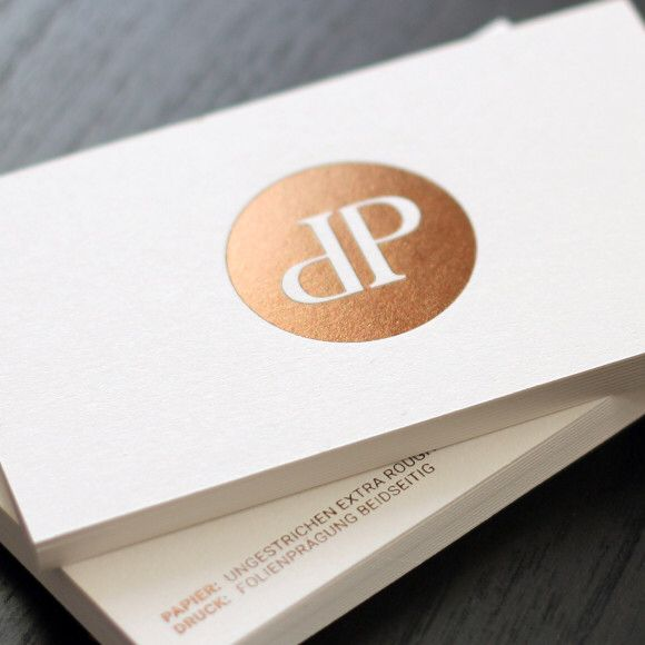 Hot Foil Print - gold-brown... Heißfolienprägung - Unser Liebling