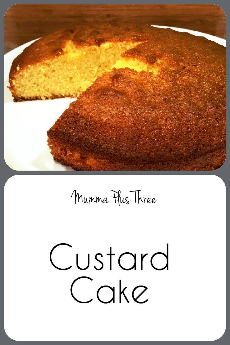 Custard Cake Recipe | Mumma Plus Three