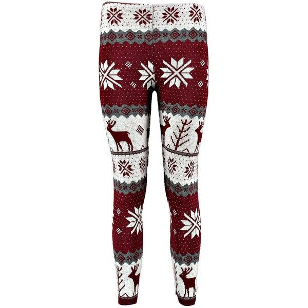 Saskia Reindeer Snowflake Christmas Legging (195 INR) ❤ liked on Polyvore featuring pants, leggings, bottoms, jeans, red christmas leggings, red trousers, snowflake leggings, christmas leggings and snowflake print leggings