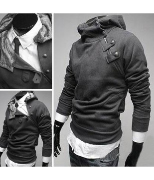 Men's Fashion Slim-fit Sweater Jacket Coat Rabbit Hair Collar