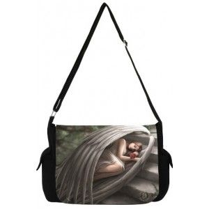 Sweet Sorrow Angel Messenger Bag by Anne Stokes - New at GothicPlus.com - your source for gothic clothing jewelry shoes boots and home decor.  #gothic #fashion #steampunk