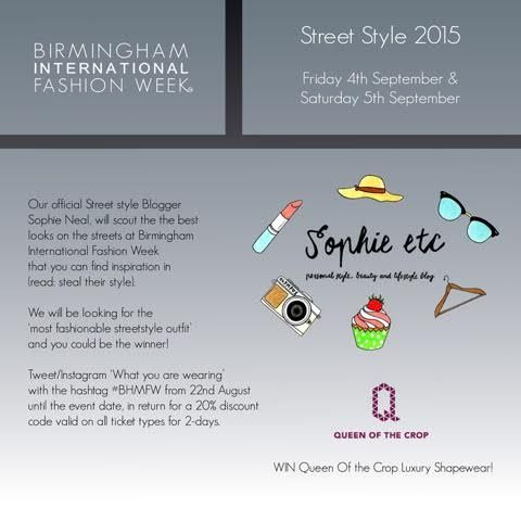 The prize for Street Style at Birmingham International Fashion Week would be one of Queen of the Crop's luxury pieces. #BHMFW #QueenoftheCrop #QueenoftheCropLife #QotC #Covet #covetgirl #shapewear #lingerie #fashion #fashionweek #Birmingham #runway #success #motivation #inspiration #fun #fblogger #competition
