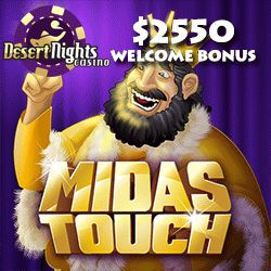 Midas Touch is launching at Slots Capital Online Casino and Desert Nights Casino