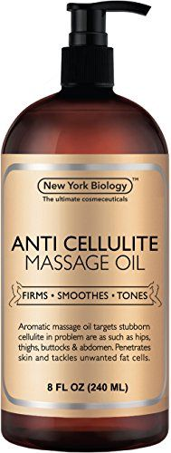 Anti Cellulite Treatment Massage Oil - All Natural Ingredients - Penetrates Skin 6X Deeper Than Cellulite Cream - Targets Unwanted Fat Tissues