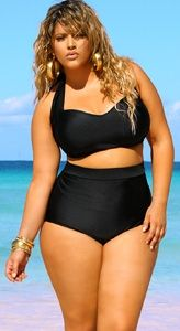 oooh yes! This Monif C Swim Suit is hot for plus!