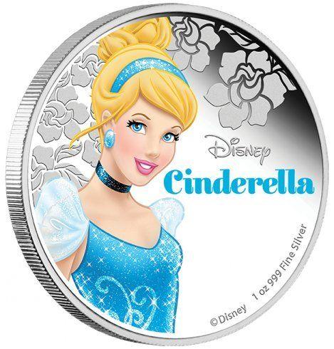 2015 Niué Proof - Disney Princess - Cinderella - 1oz - Silver Coin - $2 Uncirculated @ niftywarehouse.com #NiftyWarehouse #Disney #DisneyMovies #Animated #Film #DisneyFilms #DisneyCartoons #Kids #Cartoons
