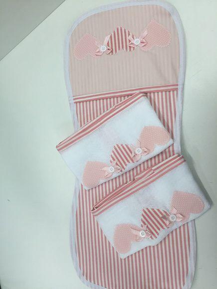 Regurgitador frente em tecido e verso em tecido fralda + 02 fraldas de boca personalizadas  Produto Fraldas Cremer Luxo  e tecido 100% algodão.