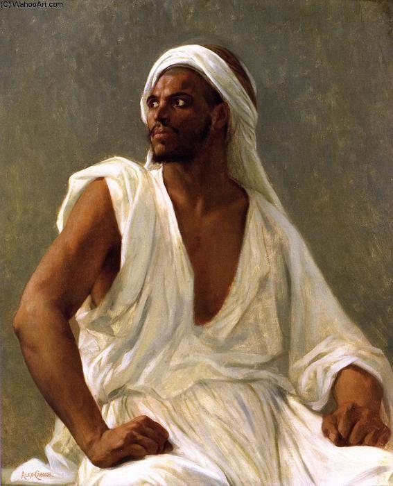 Portrait d un Arabe, huile sur toile de Alexandre Cabanel (1823-1889, France)