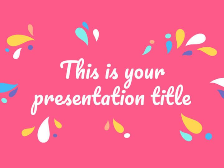 Free Colorful Powerpoint Template Google Slides Theme With Organic Shapes Google Slides Themes Presentation Template Free Powerpoint Template Free