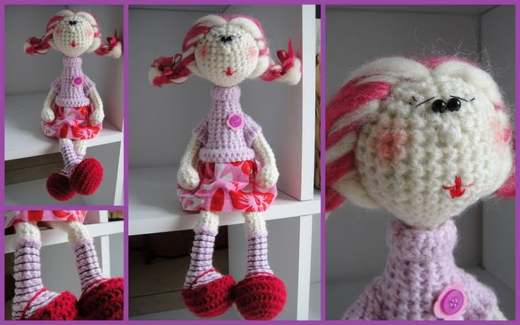 Baba - lengyel: Lalkicrochet Dolls, How To Make, Crochet Toys, Crochet Minis, Zrobić Lalkę, Stokrotka, Crochet Amigurumi Gratuit, Amigurumi Dolls, Patrones Crochet Amigurumi