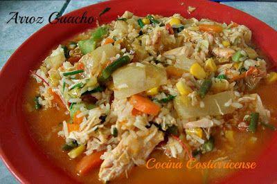 Cocina Costarricense: arroz guacho con pollo