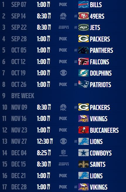 chicago bears schedule 2014 2015 printable | Analysis: Chicago Bears' 2014 schedule - NFL.com