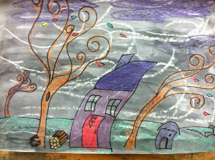 Art at East!: 2nd Grade Fall Windy Day Art