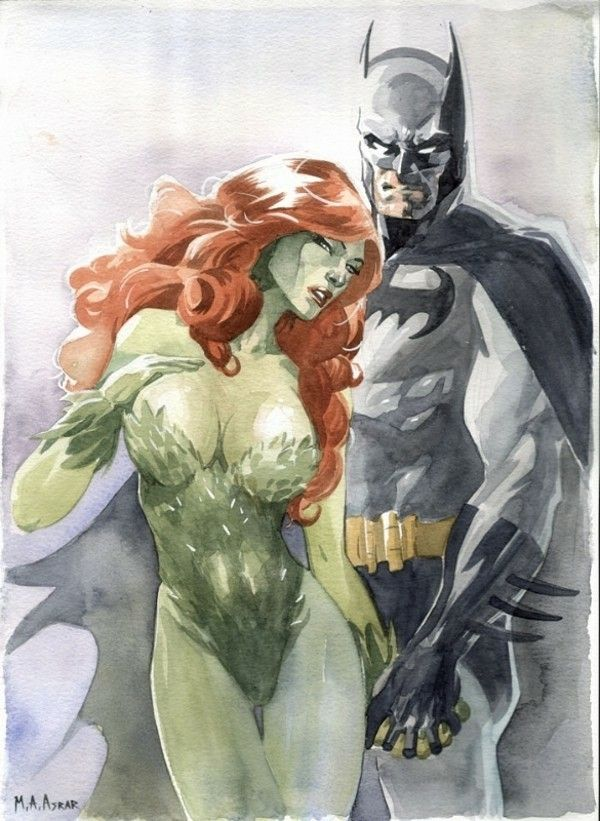 Batman and Poison Ivy sketch