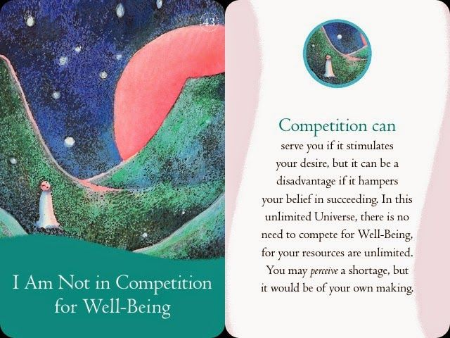 I am not in competition for well-being :D