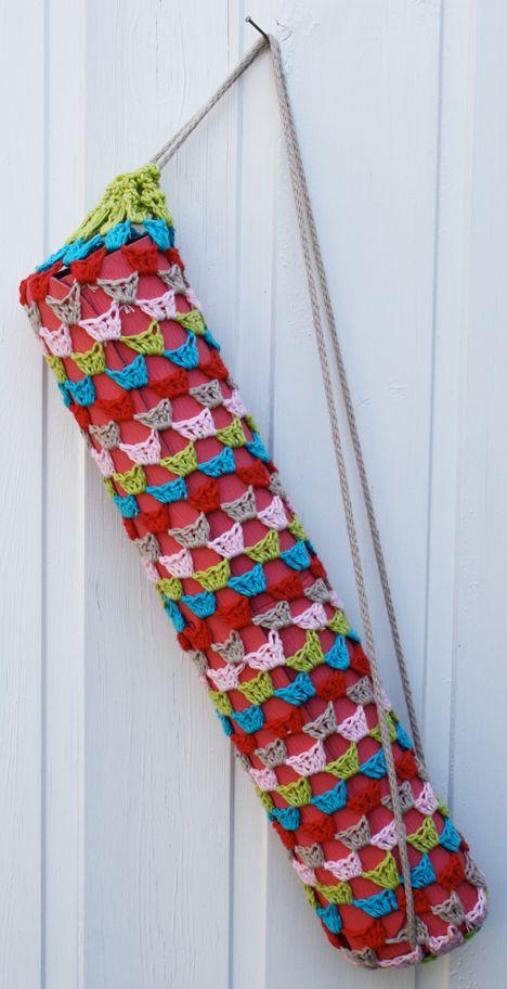 Om Shanti yoga mat bolsa - patrón de crochet libre - Pickles