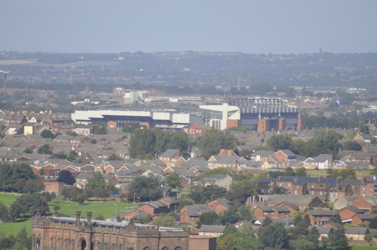 A phenomenal shot of Anfield taken from across the City at the Anglican Cathedral - nice work by Ian Knight
