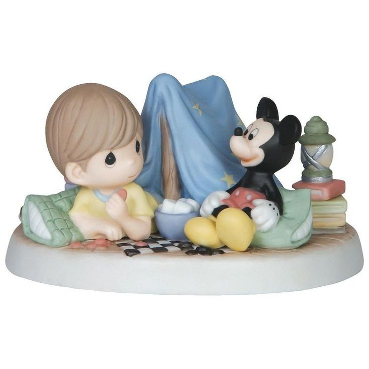 Precious Moments Disney Mickey Mouse Every Day Is Adventure Camping Boy 149032