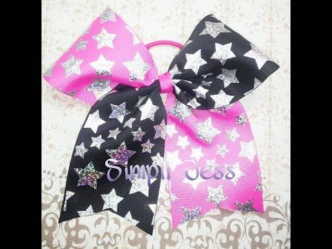 Two toned cheer bow tutorial - YouTube
