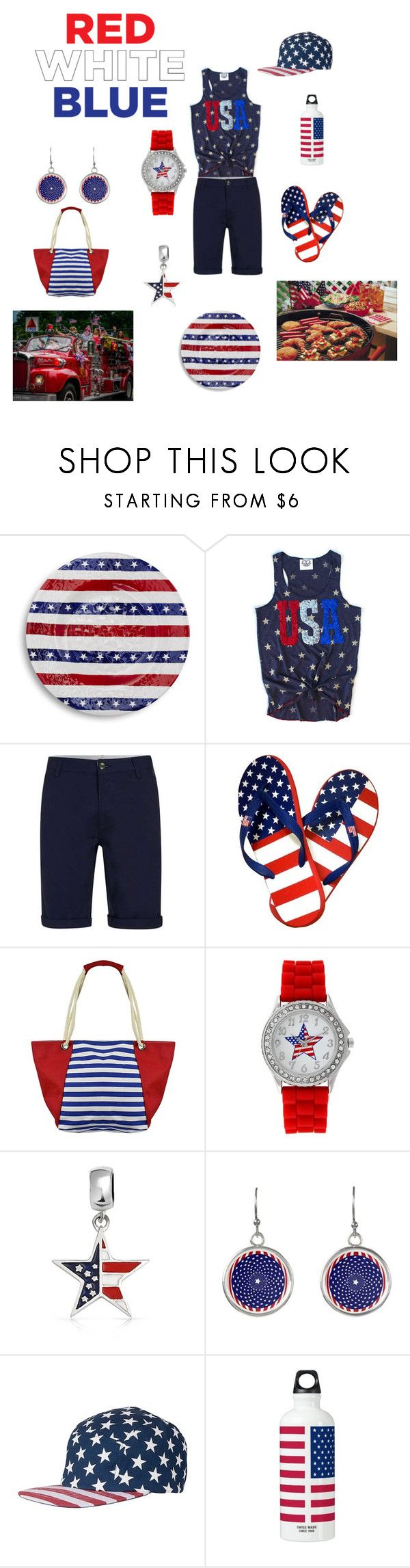 """""""Happy Independence Day!"""" by denise-grimes ❤ liked on Polyvore featuring Sur La Table, Kim Rogers, Bling Jewelry and Wemco"""
