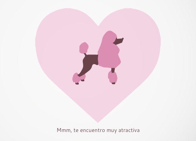 Tarjeta Te encuentro muy atractiva I find you very atractive card