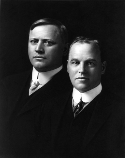 John and Horace Dodge, founders of the Dodge automobile company, were brothers from Detroit, MI who got their start making bicycle parts. By 1901, they were building engines for Oldsmobile, and by 1903, they were producing most of Ford's drive-line components. Their Ford stock made them wealthy enough to start their own company in 1914. Inseparable in life, the brothers died within months of each other in 1920. Their widows sold the company to a banker, who later sold it to Walter Chrysler.