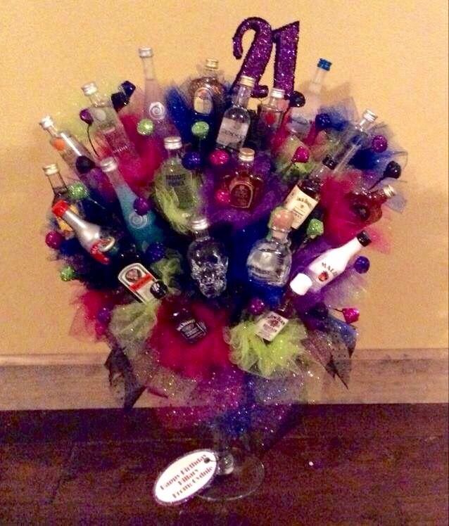 21st birthday alcohol bouquet