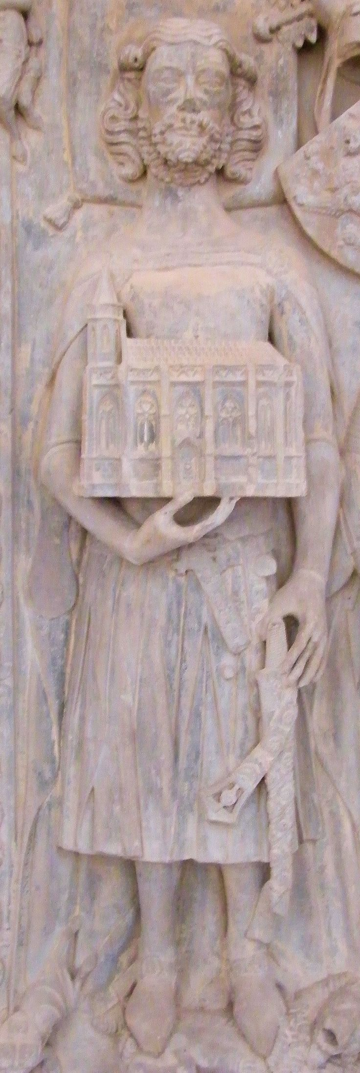 Germany Nienburg - St Marien and St Cyprian Margrave Thietmar died 978 and son Gero effigy 1350 91.JPG (1082×3223)