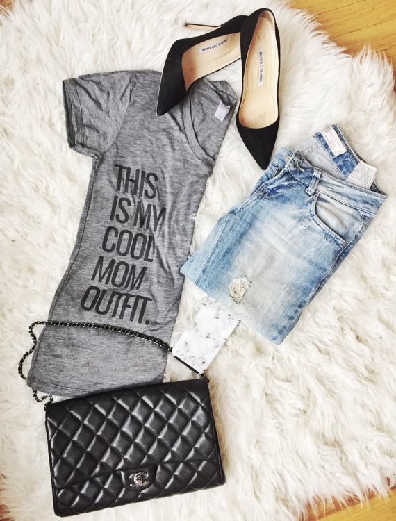 WOMENS GRAPHIC TEE This Is My Cool Mom Outfit by ChasingSmyles