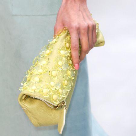Burberry petal clutch bag ss14 - best designer handbags for spring summer 2014 - yellow clutch bag - handbag.com