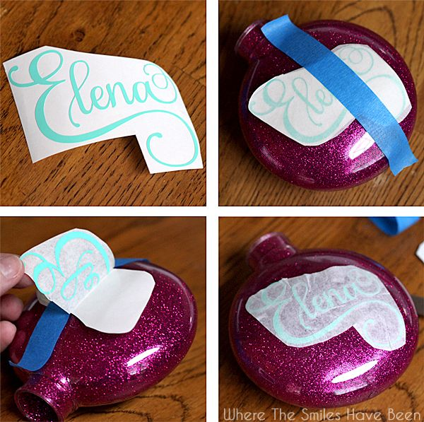 personalized craft ideas diy personalized glitter ornaments glitter ornaments 2669