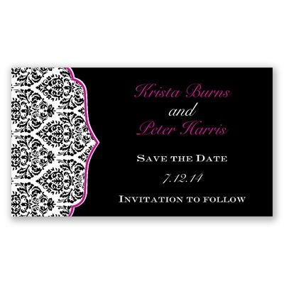 Stylish Damask - Begonia - Save the Date Magnet