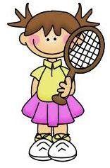 imagen de niña haciendo deporte para imprimir; Imagen de niña que juega al tenis