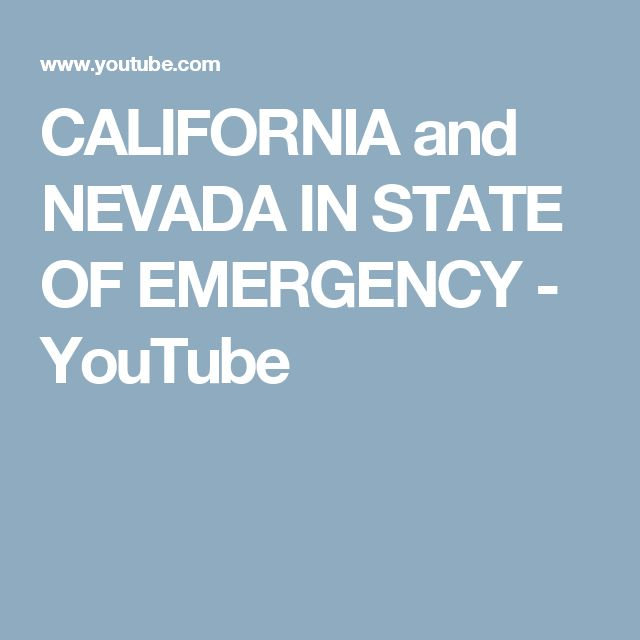 Feb 11 2017 CALIFORNIA and NEVADA IN STATE OF EMERGENCY Weather: Red Alert for Oroville CA communities. The Dam that holds back 70,000 cubic yards of lake water is about to break. This will wipe out Oroville CA community of tens of thousands of people. CA being battered by storm system that will continue to travel across northern tier of US from west to east. Global weather patterns are out of control video explains why.YouTube