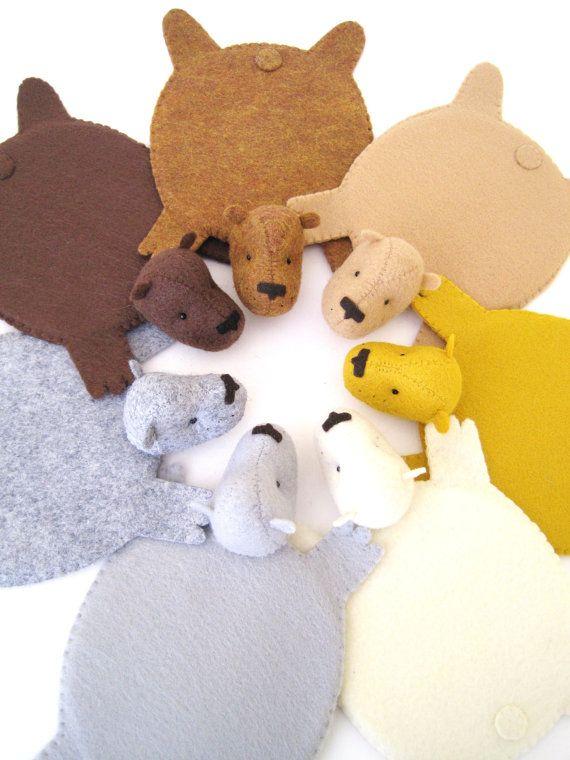 Bear Rug Coasters, @NaTaya Stewart Doyle... For Some Reason These Reminded
