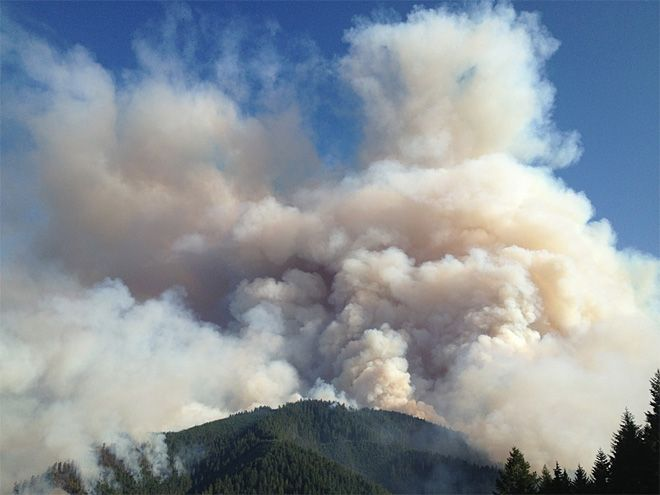Douglas Complex Wildfire | Photo of the Douglas Complex fire from July 26, 2013, by Kyle Reed