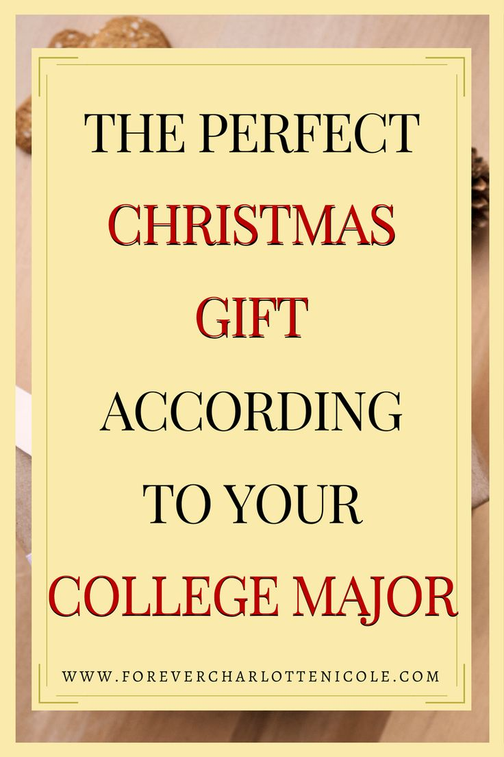 The Perfect Christmas Gift According To Your College Major | Need help finding the perfect gift for your friend or family member this Christmas season? Come check out my gift guide on the perfect Christmas gift according to your college major. | www.forevercharlottenicole.com