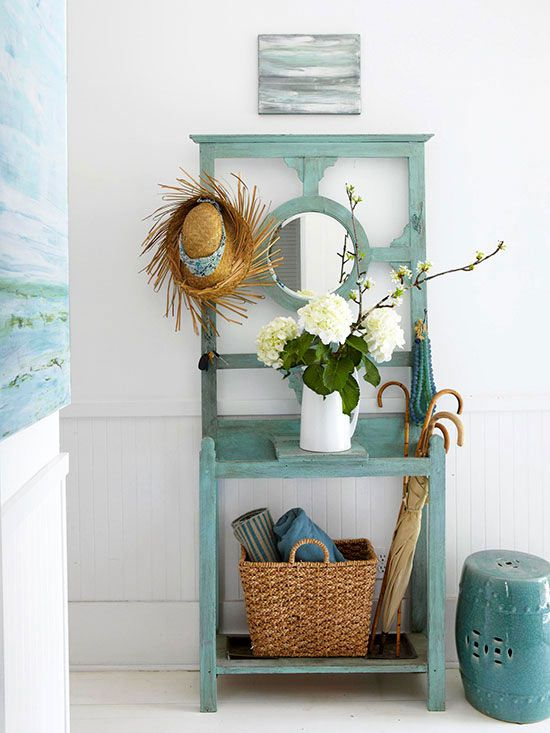 .Pa could make using old window frame on top OR I could paint my potting bench from garage.