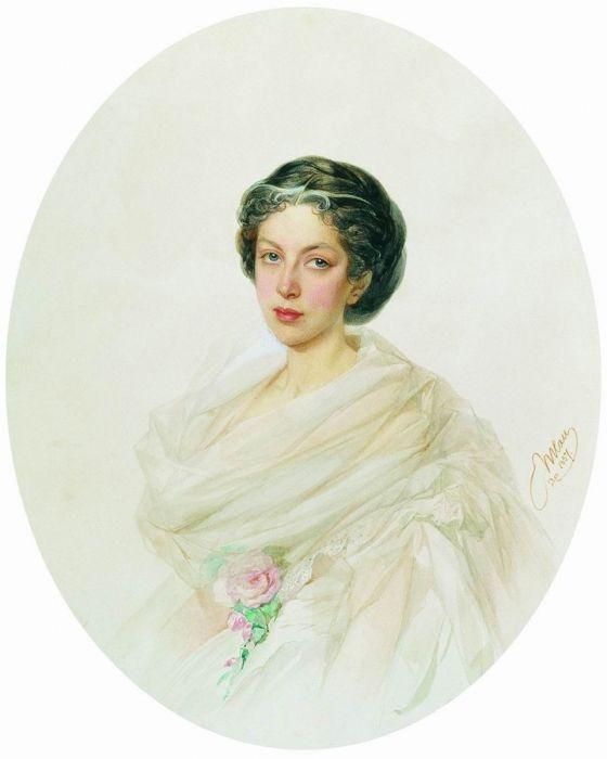 Владимир Иванович Гау (1816-1895), крупнейший мастер акварельного портрета