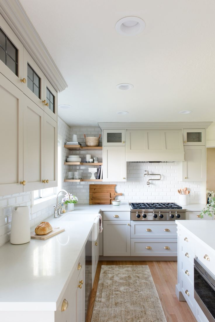 make your kitchen feel larger with open shelves in 2019 kitchen rh pinterest com