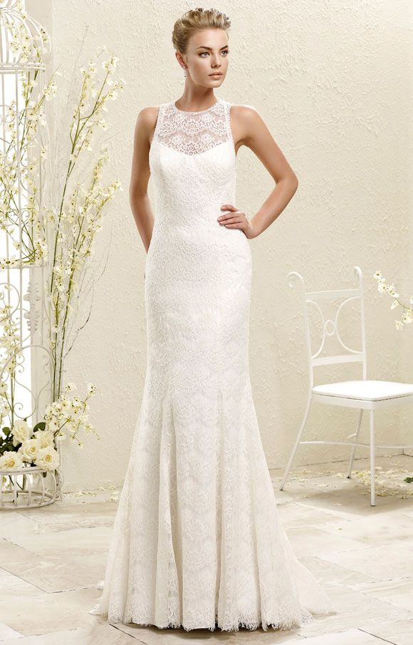 Eddy K 77962 - Romantic, feminine and beautifully crafted. Those are the words to describe the 2015 ADK collection. Carefully selected lace,  exquisite details on backs and necklines, beaded belts; all these elements come together to highlight the feminine silhouette. | Brides of Melbourne | Vintage Style Bridal Gowns
