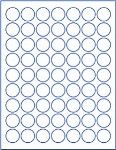 """Microsoft WORD Template For 1"""" Circle Bottle Cap Image"""