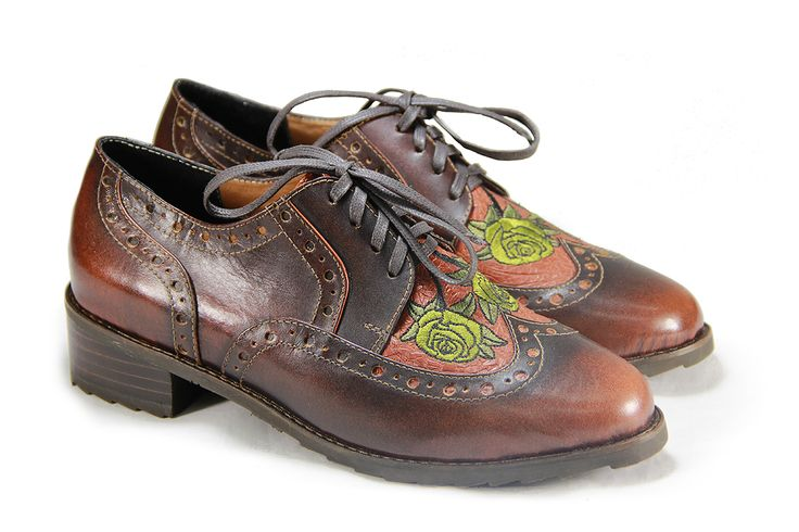 Casual  Oxford terracota   #oxford #fashion #jf #womanshoes #shoes
