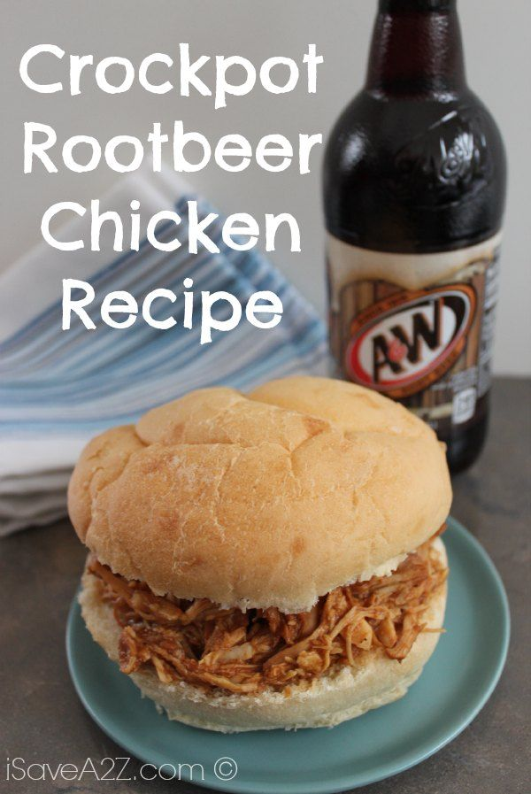Crockpot Root Beer Chicken Recipe - iSave A2Z